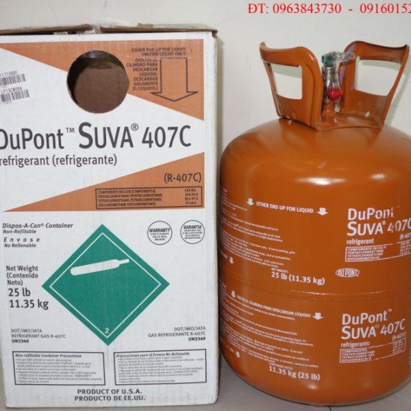 Gas DuPont 407c Hàng Xịn